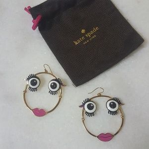 ♠️ Kate Spade♠️ Imagination Monster Hoops NWOT